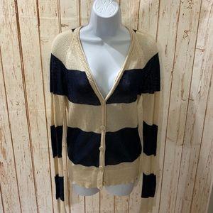 ⚡ 3/$15 Roxy Striped Open Knit Cardigan